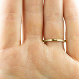 Eco Friendly Chevron Wedding Band, 14K Yellow Gold - Point No Point Studio - 3