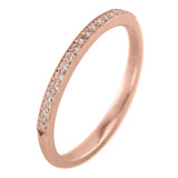 14K Rose Gold Vintage Inspired Diamond Wedding Band, Jamie Style - Point No Point Studio - 1
