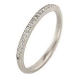 14K White Gold Vintage Inspired Diamond Wedding Band, Jamie Style - Point No Point Studio - 1