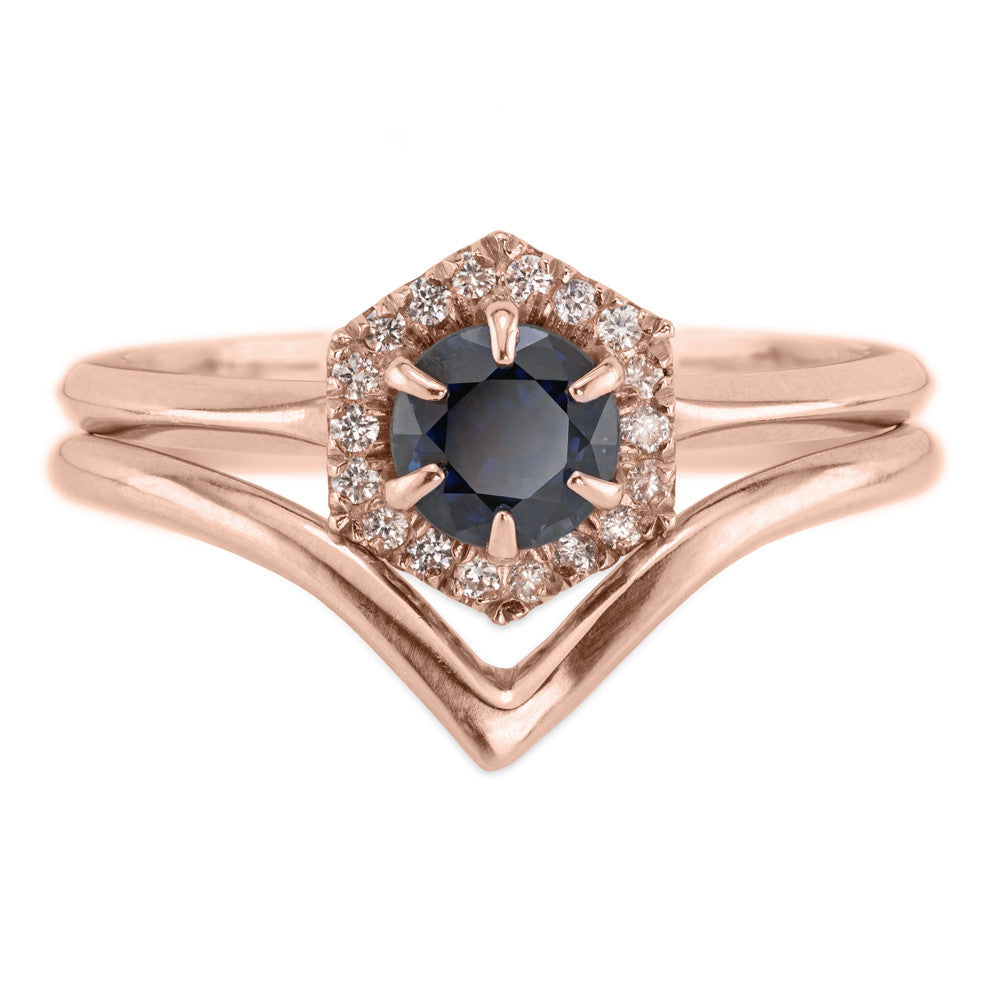 Vivian Wedding Band, 14k Recycled Rose Gold
