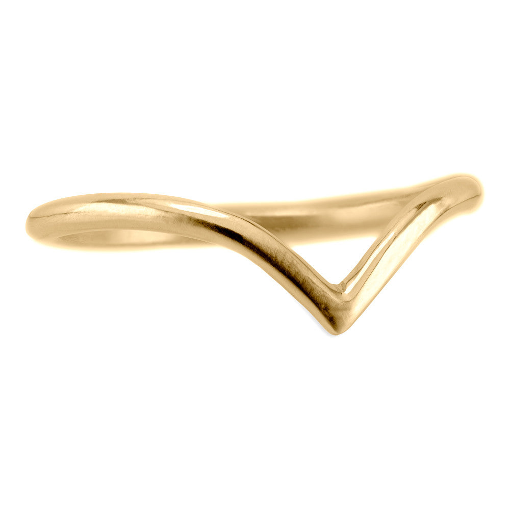 Vivian Wedding Band, 14k Recycled Yellow Gold