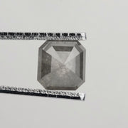 1.82 ct Grey Asscher Rose Cut Diamond