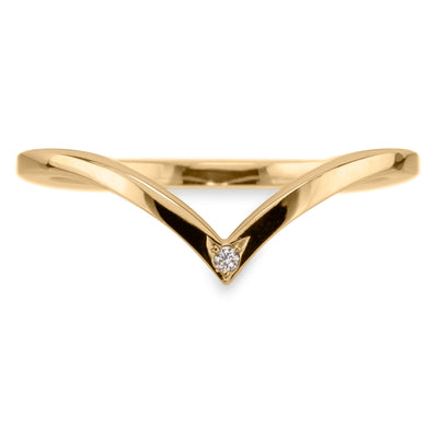 Diamond Square Vivian Wedding Band, 14k Yellow Gold