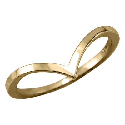 Square Vivian Wedding Band, 14k Recycled Yellow Gold