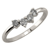 Salt & Pepper Diamond Ursa Contour Wedding Ring, 14k White Gold