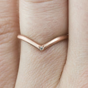 V Shaped Wedding Band