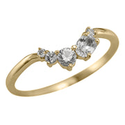 Sapphire Sammy Wedding Ring, 14k Yellow Gold