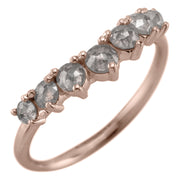 Evelyn Diamond Contour Wedding Ring, 14k Rose Gold