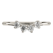 White Diamond Ursa Contour Wedding Ring, 14k White Gold
