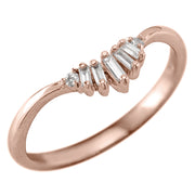 Wren Diamond Wedding Band, 14k Rose Gold