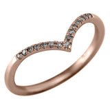 Grey Diamond Vivian V Band, 14k Rose Gold