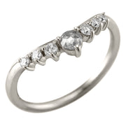 Diamond Contour Wedding Ring