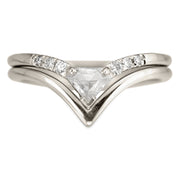 .38ct Shield Diamond Victoria Wedding Ring, Platinum