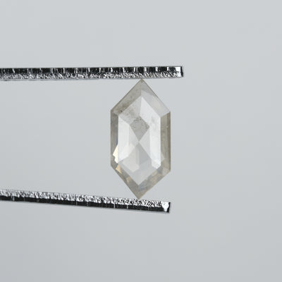 .91 ct Translucent Grey Hexagon Diamond