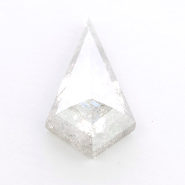 6.02 Carat Salt & Pepper Kite Rose Cut Diamond