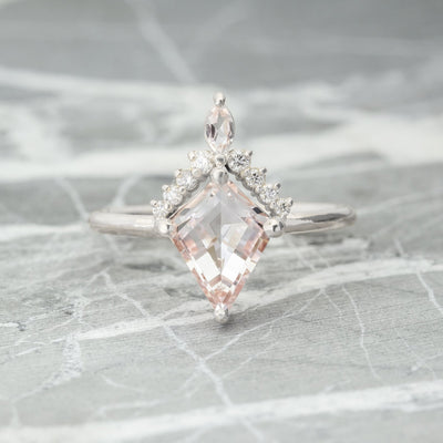 Morganite & Diamond Engagement Ring