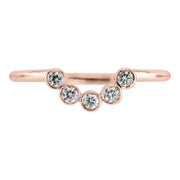 Bezel Edna contour diamond band, 14k Rose Gold