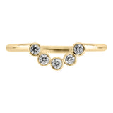 Bezel Edna contour diamond band, 14k Yellow Gold