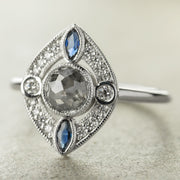 Custom Art Deco Vintage Engagement Ring