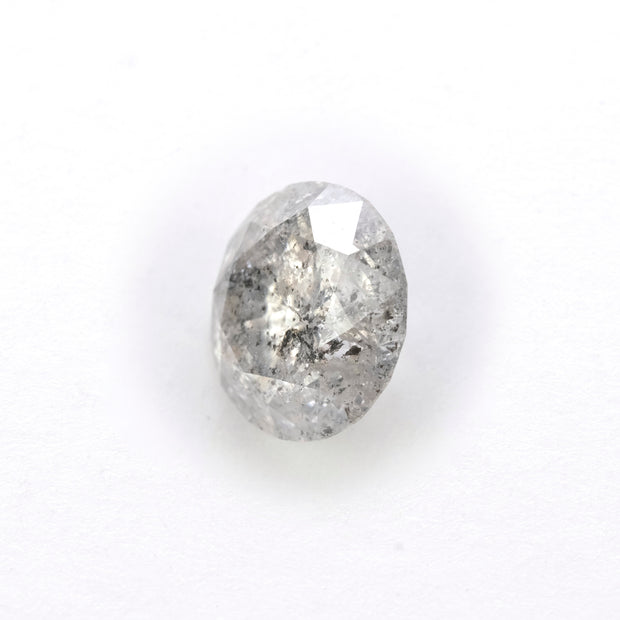 2.02 Carat Salt & Pepper Brilliant Cut Diamond