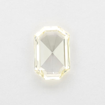 2.10ct Clear Rose Cut Emerald Shaped Diamond