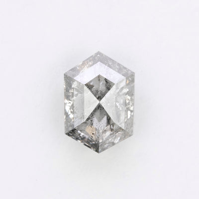 2.21 Carat Salt & Pepper Rose Cut Diamond