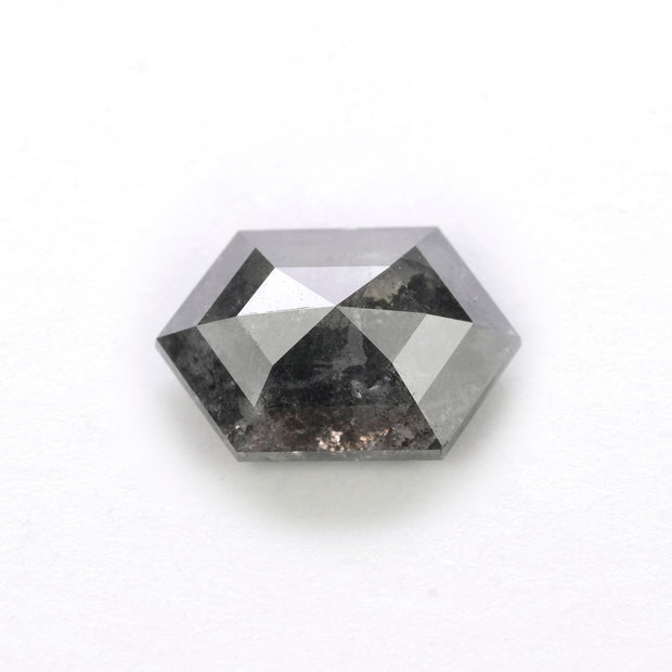 2.35 Carat Black Speckled Rose Cut Diamond