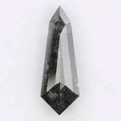 2.68 Carat Black Speckled Rose Cut Diamond