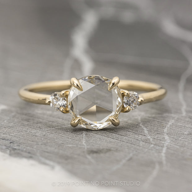 .79ct Clear Round Diamond Engagement Ring, Zoe Setting, 14K Yellow Gold