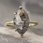 3.80 Carat Marquise Diamond Engagement Ring, Jane Setting, 14K Yellow Gold