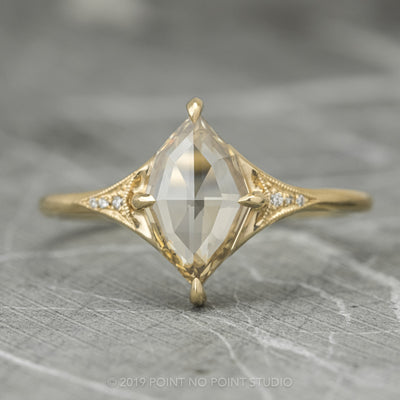 Geometric Marquise Diamond Engagement Ring