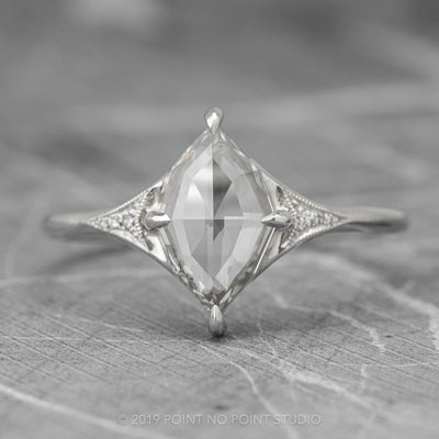 1.61ct Geometric Marquise Diamond Engagement Ring, Aela Setting, 14K White Gold