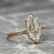 Clear Marquise Engagement Ring