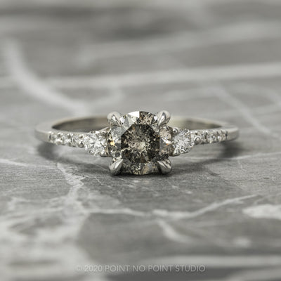 Salt & Pepper Diamond Engagement Ring