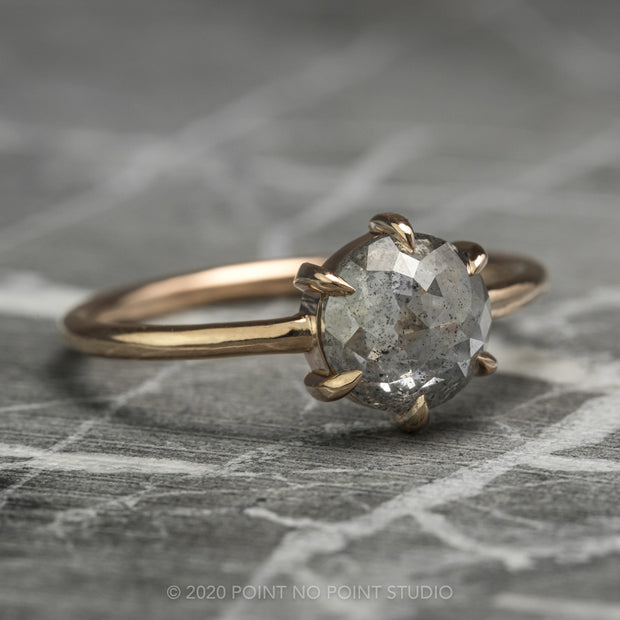 Grey Speckled Diamond Engagement Ring