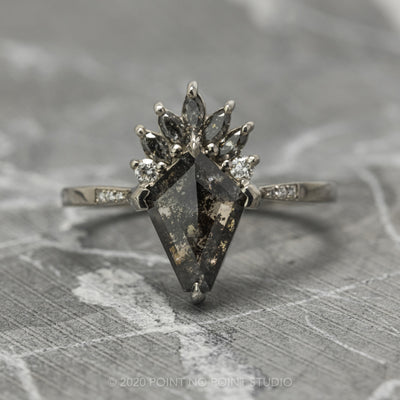 Kite and Marquise Diamond Engagement Ring