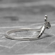 Ombre Diamond Wedding Ring, Adorn Ombre Vivian Setting, 14k White Gold, Deep Contour