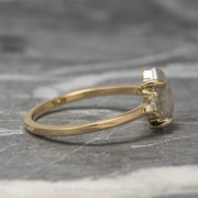 1.45ct Hexagon Diamond Engagement Ring, Zoe Setting, 14K Yellow Gold