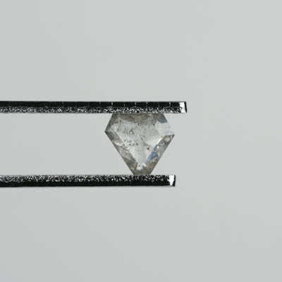 .39 Carat Semi-Translucent Grey Geometric Rose Cut Diamond