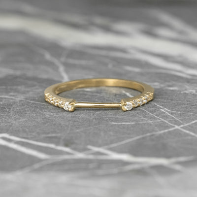 Diamond Wedding Cuff, Harper Setting, , 14k Yellow Gold