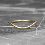 Classic Contour Wedding Band, 14K Yellow Gold