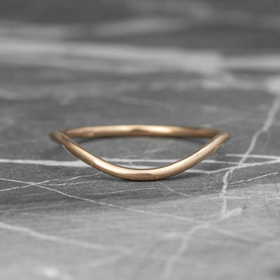 Classic Contour Wedding Band, 14K Rose Gold