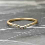 White Diamond Contour Band