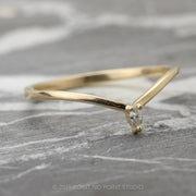 Marquise Diamond Wedding Band, Victoria Setting, 14K Yellow Gold