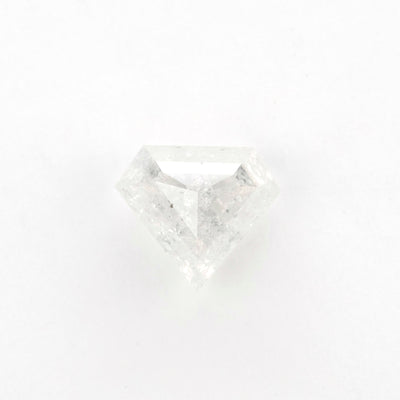 2 Carat Icy White Shield Rose Cut Diamond