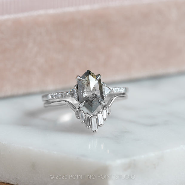 Hexagon Diamond Engagement Ring