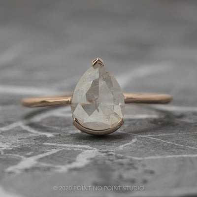 Icy White Pear Diamond Engagement Ring