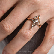 1.58ct Kite Diamond Engagement Ring, Ombre Jules Setting, 14K Rose Gold