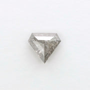 1ct Grey Speckled Shield Shaped Rose Cut Diamond