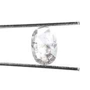2.48ct Translucent Salt & Pepper Oval Rose Cut Diamond